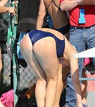 Amazing body of professional swimmer girl