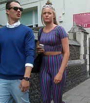 Sexy chav girl caught on candid camera