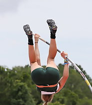 Amazing pole vaulter got hot tight ass