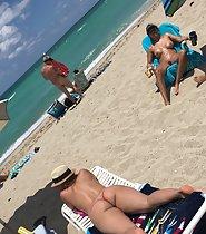 Peeping on beach nudity