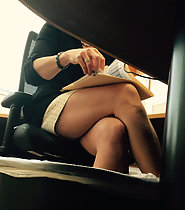Sexy coworker creepshots in office