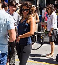 Stunning brunette in tights