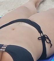 Pubes sticking out of bikini