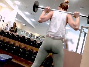 Gym voyeur spying on buttocks made of steel