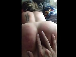 Party girl's ass is too tight to receive a fat dick
