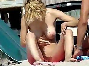 Sweet girl fully nude on a beach