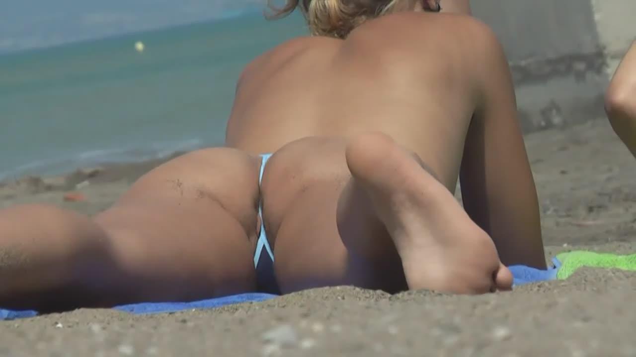 POV uncut asshole bikini