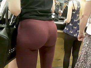 Slim girl with unrealistically big butt