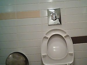 Two day old pubic hair caught in toilet Picture 4