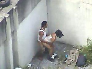 homeless couple having sex