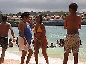 Eye candy black girl on the beach