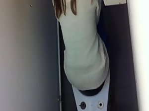 Peeping her in the university toilet