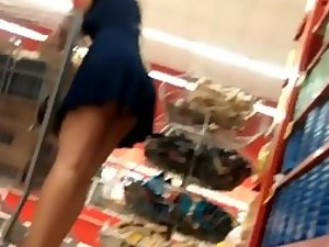 Sexy lady stalked in the supermarket