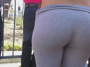 Standing close to a perfect young ass Picture 8