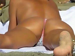 Bikini anal otngagged voyeur