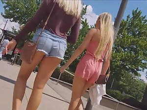 Bigger and smaller ass of teen friends