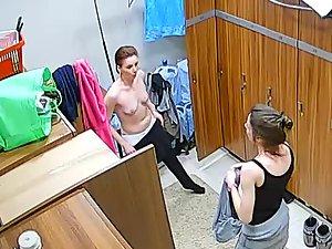 Milf undressing in the locker room