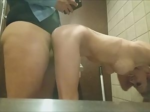 Sex with stranger in public toilet