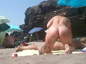 Incredible ass on a nudist beach