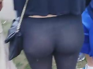 High expectations of see thru tights