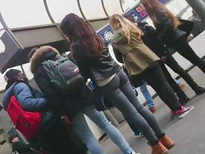 Sexy schoolgirl asses around me