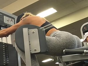 Getting close to see her butt cheeks flex