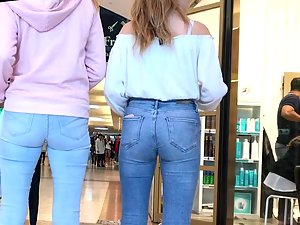 Epic teen girl in extremely tight jeans Picture 4