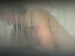 Peeping on my own sister in the bathroom