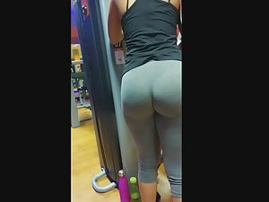 Mother and daughter in gym together
