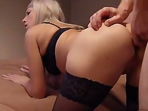 Adorable girl's tight butt is slowly fucked