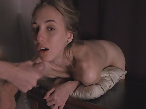 Shutting her up with hard dick