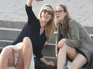 Incredible upskirt during selfie