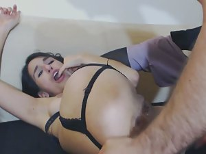 Insane anal sex with horny brunette