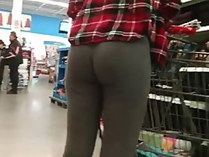 Intoxicating girl's butt in tight leggings