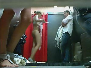 Spying a couple in fitting room Picture 5