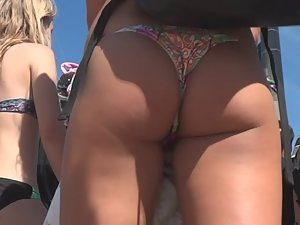 Smooth tanned skin on perfect ass cheeks