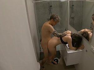 Hidden cam caught teens fuck in bathroom Picture 5
