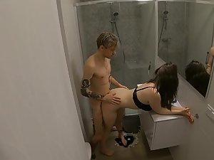 Hidden cam caught teens fuck in bathroom Picture 6