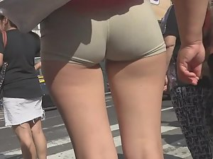 Tight shorts designed to advertise
