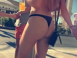 Girl grabs an epic ass and she won't let go Picture 2