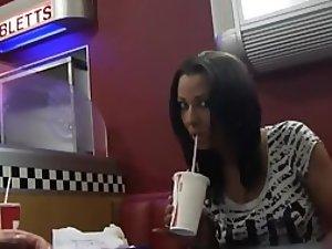 Fast food blowjob