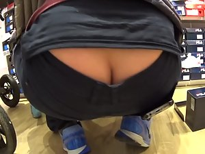 Accidentally exposed butt crack