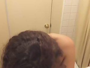 Teens make sex tape in bathroom Picture 1
