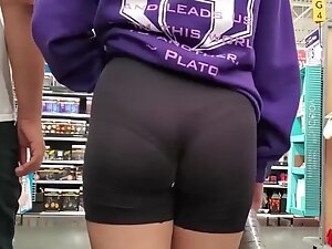 Tight thong and even tighter shorts