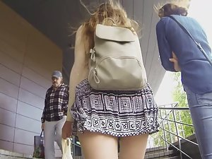 Upskirt after following hot college girl