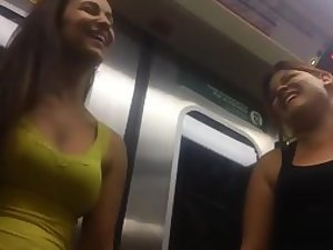 Peeping on two hot girls in a train