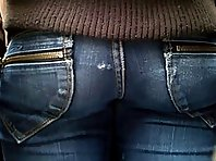 Tight ass in jeans pants
