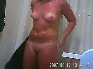 Sexy tan lines spied on her athletic body