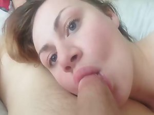 Beauty rests with a penis in her mouth