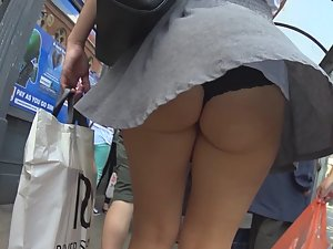 Short skirt just can't stay in place